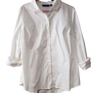 Apt 9 White Button Long Sleeve Blouse - L